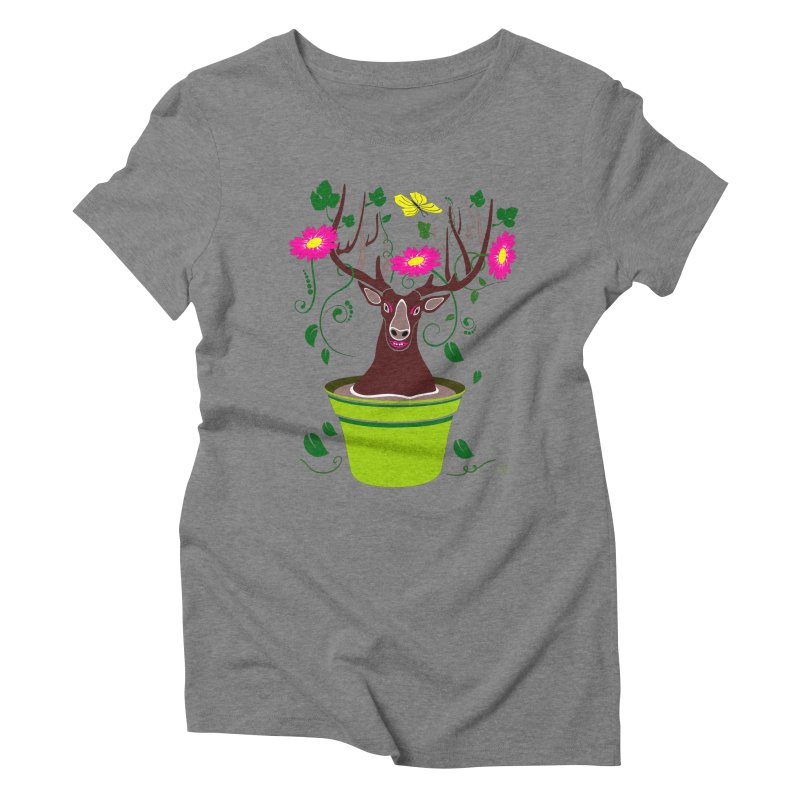 DearDeer Women's Triblend T-shirt by mariabelonesart's Artist Shop