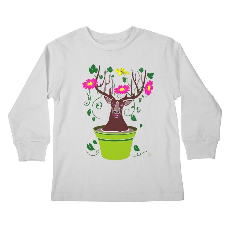 DearDeer Kids Longsleeve T-Shirt by mariabelonesart's Artist Shop