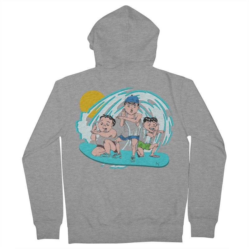 Tokyo Surfing Primary School Men's Zip-Up Hoody by MariabelonesART