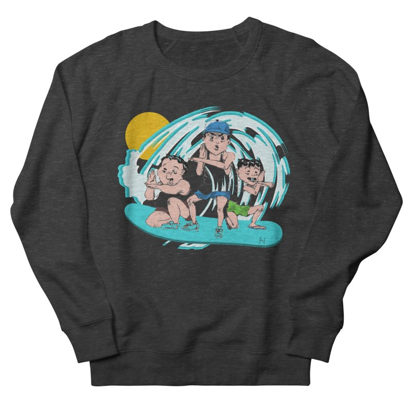 Tokyo Surfing Primary School Men's Sweatshirt by mariabelonesart's Artist Shop