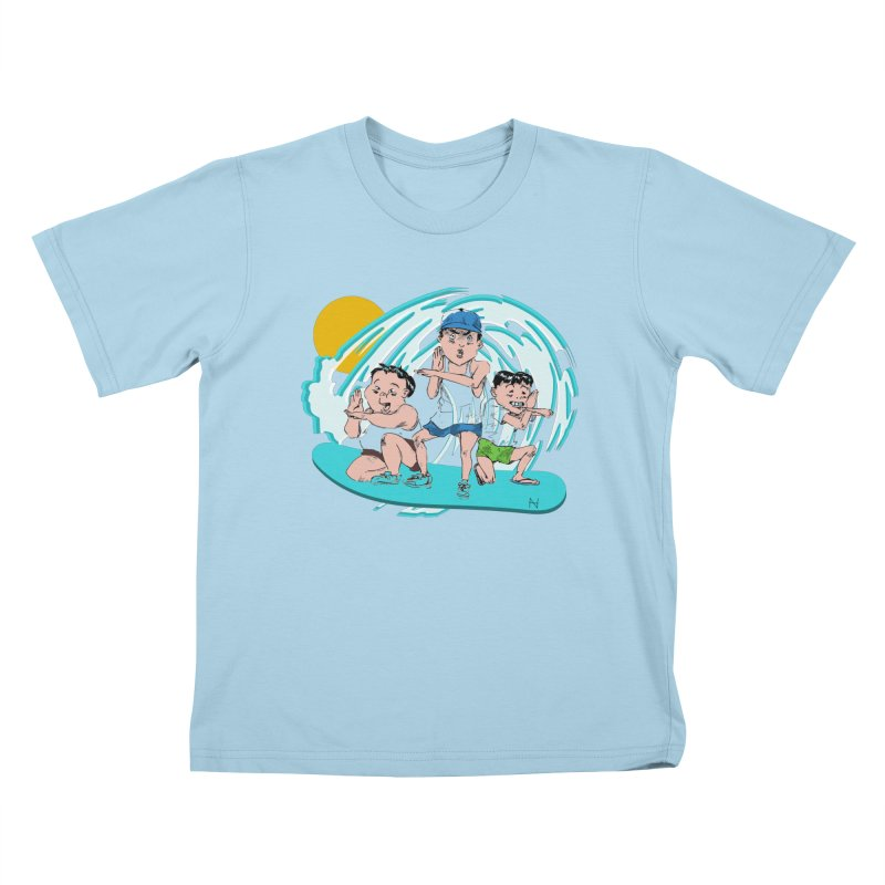 Tokyo Surfing Primary School Kids T-shirt by mariabelonesart's Artist Shop