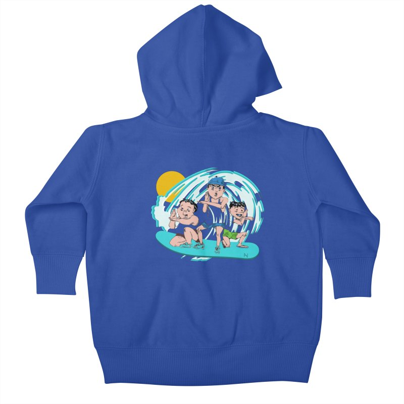 Tokyo Surfing Primary School Kids Baby Zip-Up Hoody by mariabelonesart's Artist Shop