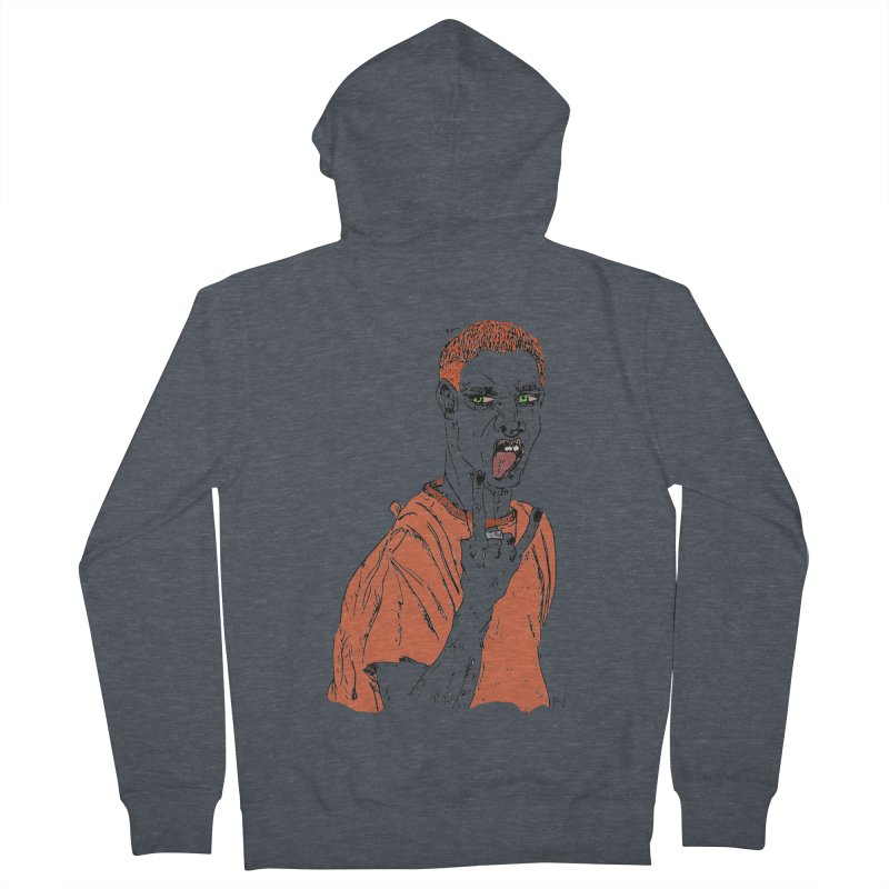The REDman Men's Zip-Up Hoody by mariabelonesart's Artist Shop