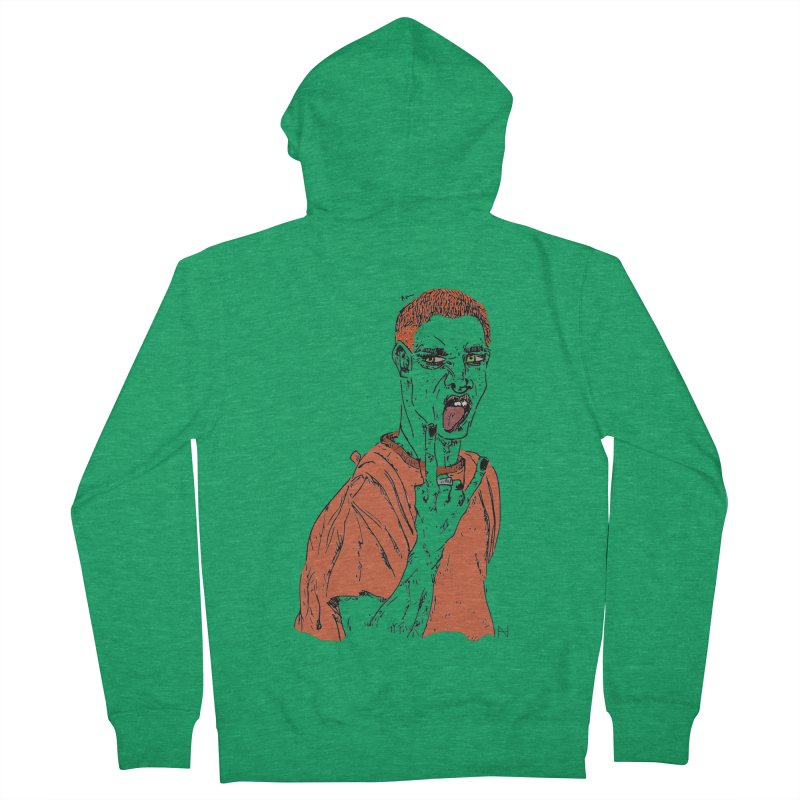 The REDman Men's Zip-Up Hoody by mariabelonesart's Artist Shop