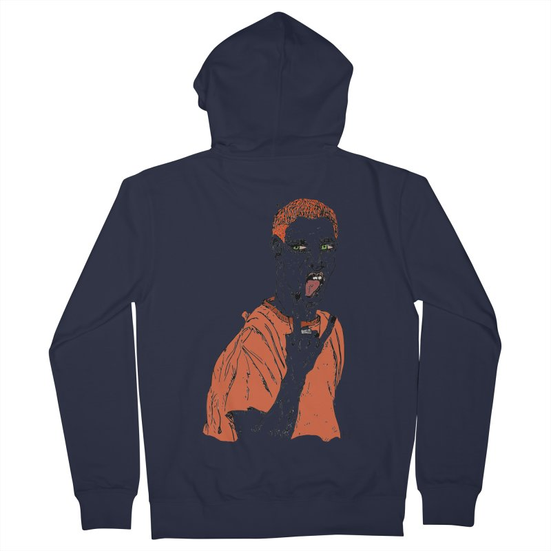 The REDman Men's Zip-Up Hoody by MariabelonesART