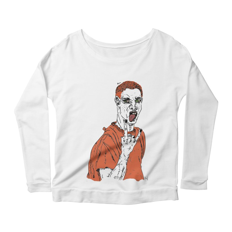 The REDman Women's Longsleeve Scoopneck  by mariabelonesart's Artist Shop