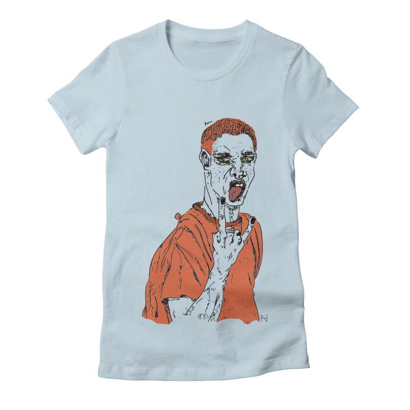 The REDman Women's Fitted T-Shirt by mariabelonesart's Artist Shop