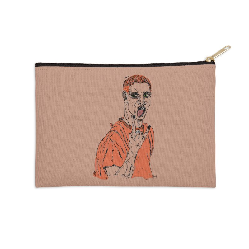 The REDman Accessories Zip Pouch by mariabelonesart's Artist Shop