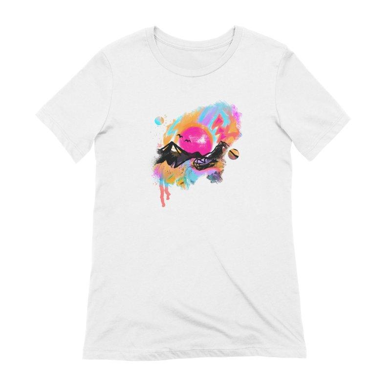 Abstract landscape print Women's T-Shirt by Art & design by Maria Daniela Hästö