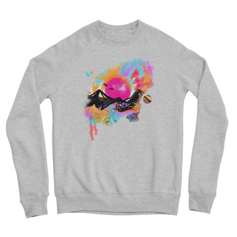 Abstract landscape print Women's Sweatshirt by Art & design by Maria Daniela Hästö