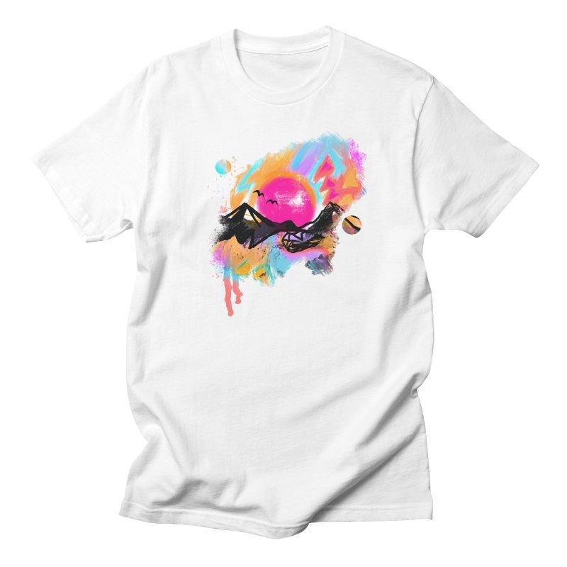 Abstract landscape print Men's T-Shirt by Art & design by Maria Daniela Hästö