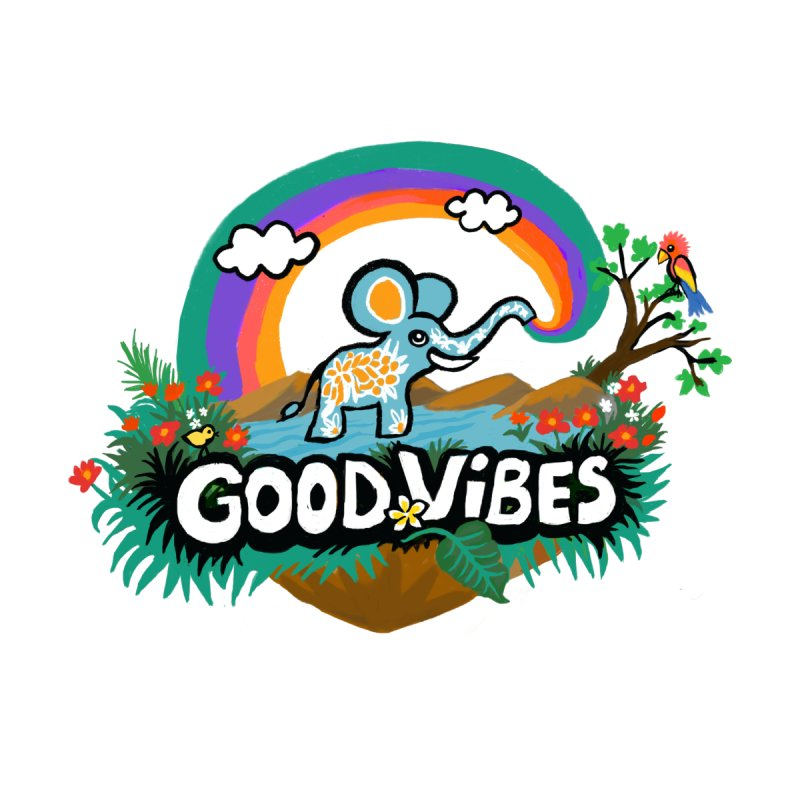 GOOD VIBES Women's Zip-Up Hoody by Art & design by Maria Daniela Hästö