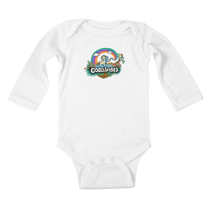 GOOD VIBES Kids Baby Longsleeve Bodysuit by Art & design by Maria Daniela Hästö