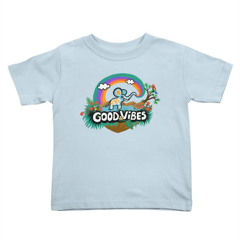 GOOD VIBES Kids Toddler T-Shirt by Art & design by Maria Daniela Hästö