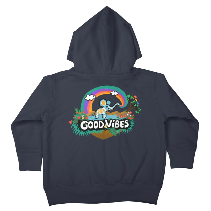 GOOD VIBES Kids Toddler Zip-Up Hoody by Art & design by Maria Daniela Hästö