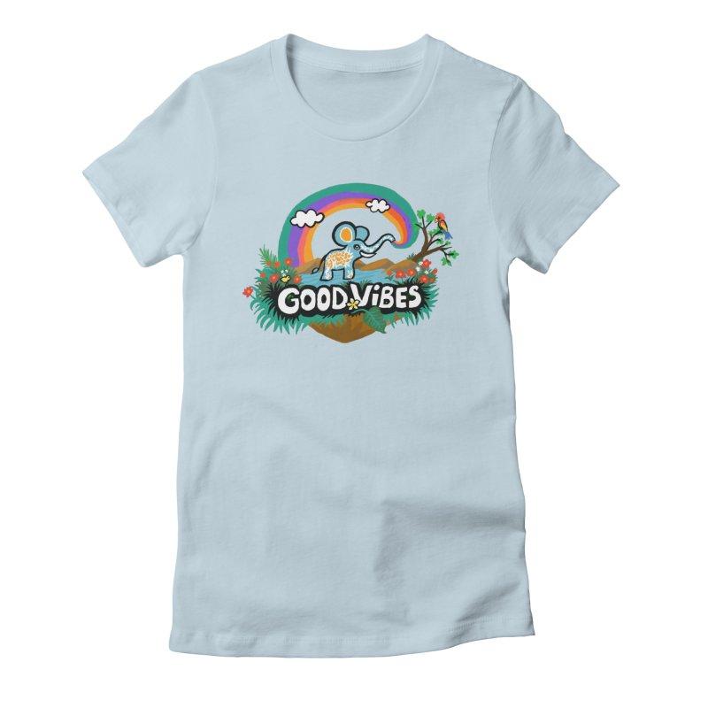 GOOD VIBES Women's T-Shirt by Art & design by Maria Daniela Hästö