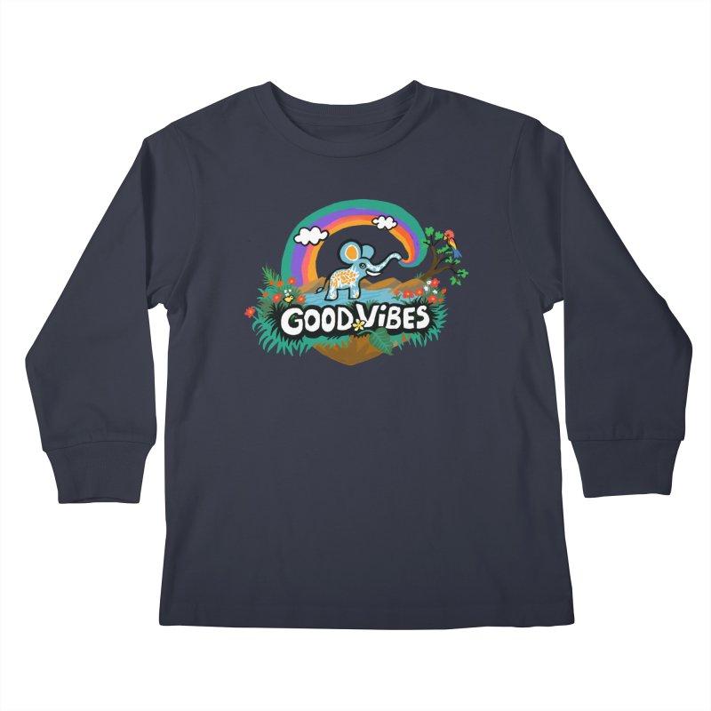 GOOD VIBES Kids Longsleeve T-Shirt by Art & design by Maria Daniela Hästö