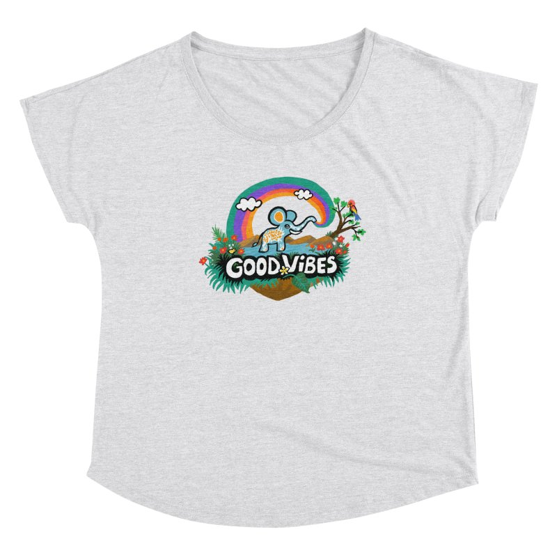 GOOD VIBES Women's Scoop Neck by Art & design by Maria Daniela Hästö