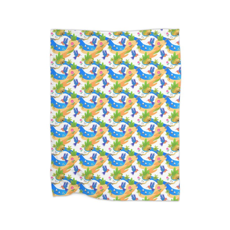 Tropical adventure Home Blanket by Art & design by Maria Daniela Hästö
