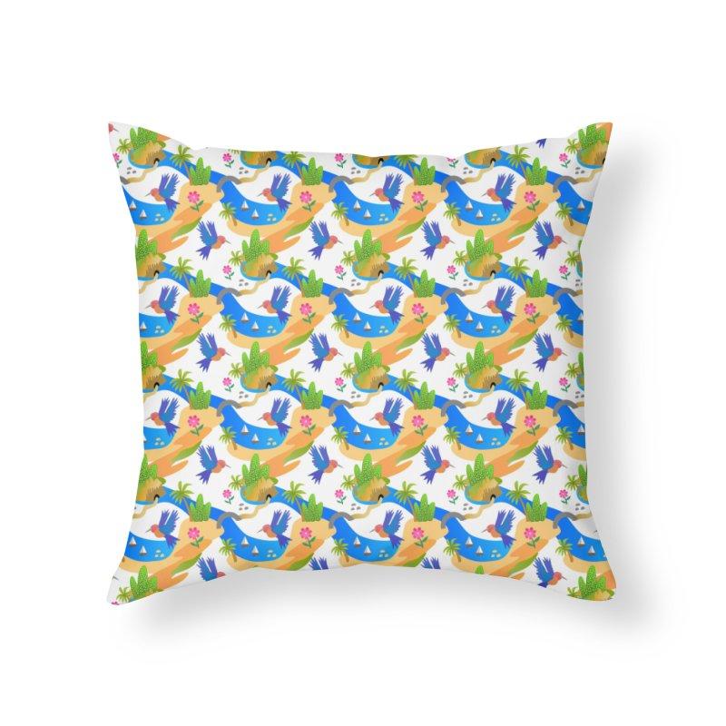 Tropical adventure Home Throw Pillow by Art & design by Maria Daniela Hästö