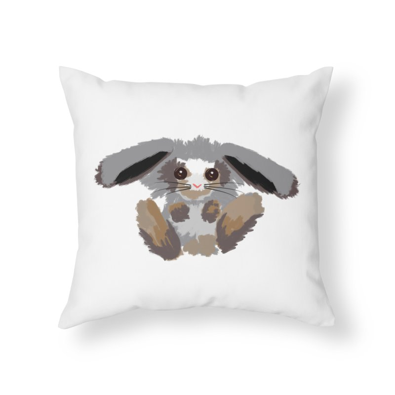 Bunny print Home Throw Pillow by Art & design by Maria Daniela Hästö