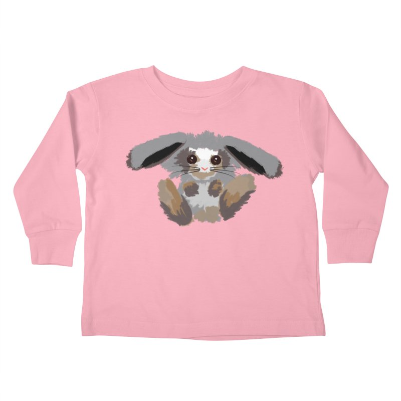 Bunny print Kids Toddler Longsleeve T-Shirt by Art & design by Maria Daniela Hästö
