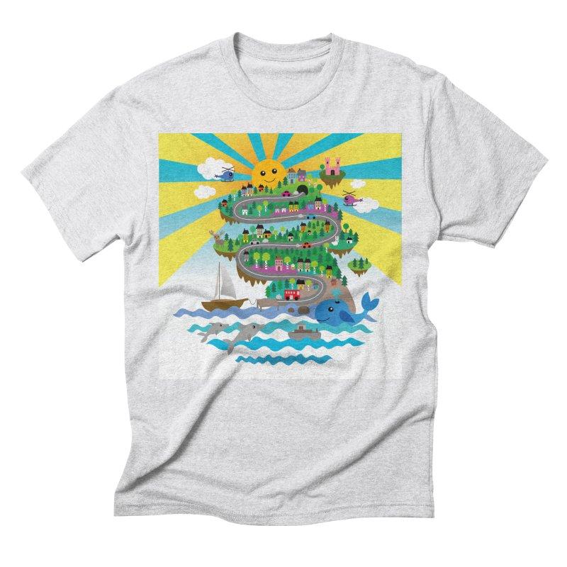 Happy mountain Men's T-Shirt by Art & design by Maria Daniela Hästö