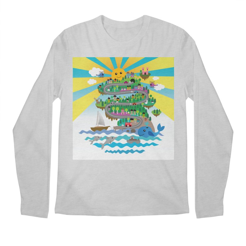 Happy mountain Men's Longsleeve T-Shirt by Art & design by Maria Daniela Hästö