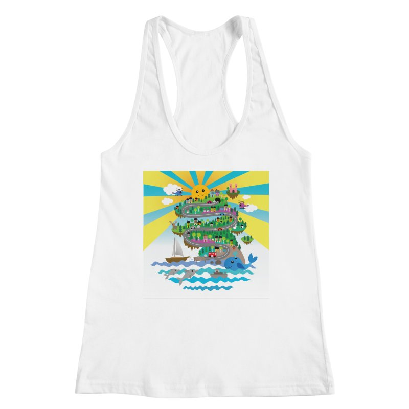 Happy mountain Women's Tank by Art & design by Maria Daniela Hästö