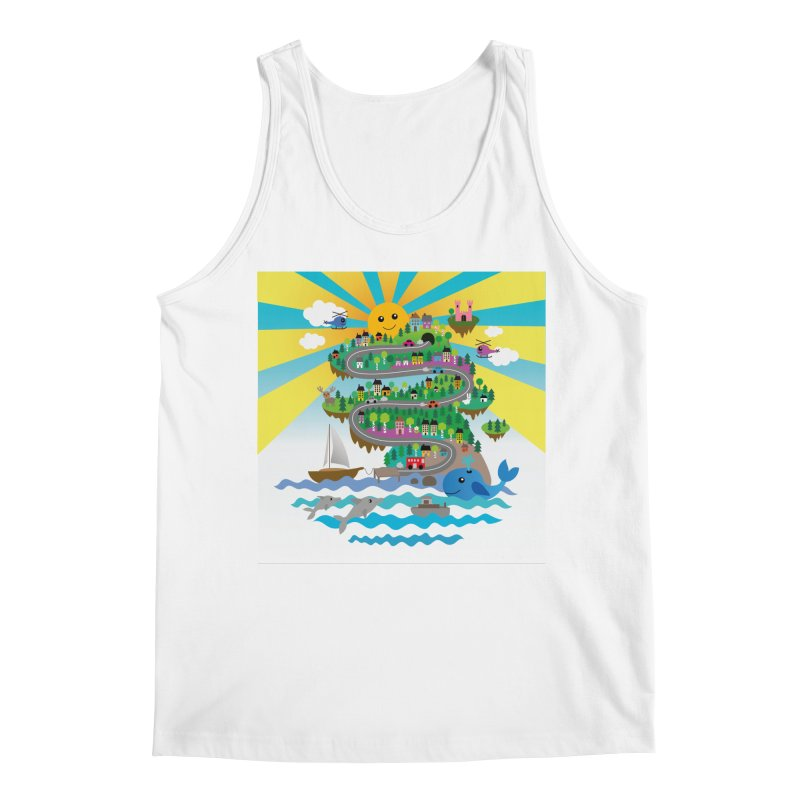 Happy mountain Men's Tank by Art & design by Maria Daniela Hästö