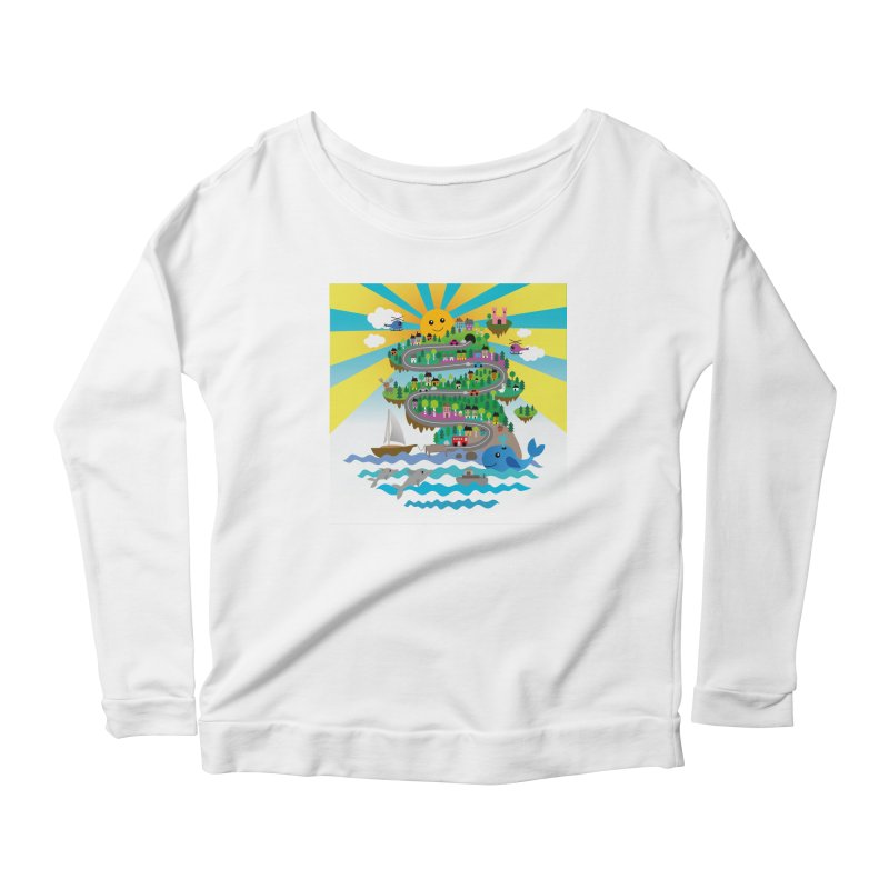 Happy mountain Women's Longsleeve T-Shirt by Art & design by Maria Daniela Hästö