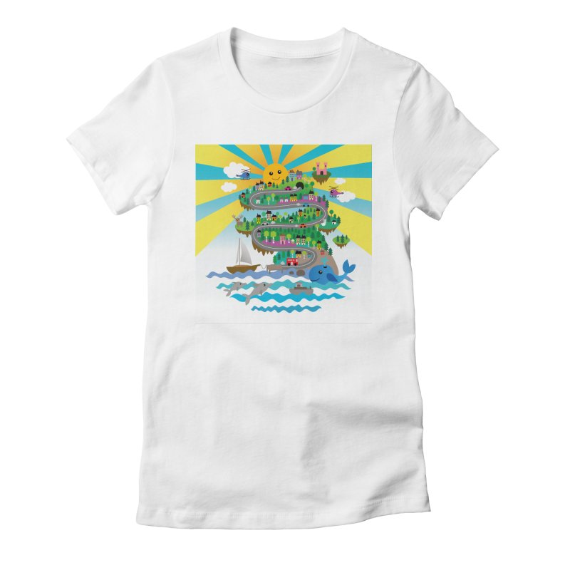 Happy mountain Women's T-Shirt by Art & design by Maria Daniela Hästö