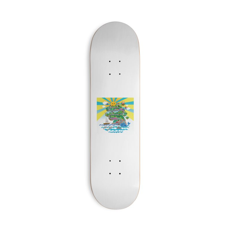 Happy mountain Accessories Skateboard by Art & design by Maria Daniela Hästö