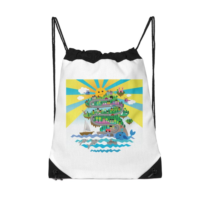 Happy mountain Accessories Bag by Art & design by Maria Daniela Hästö