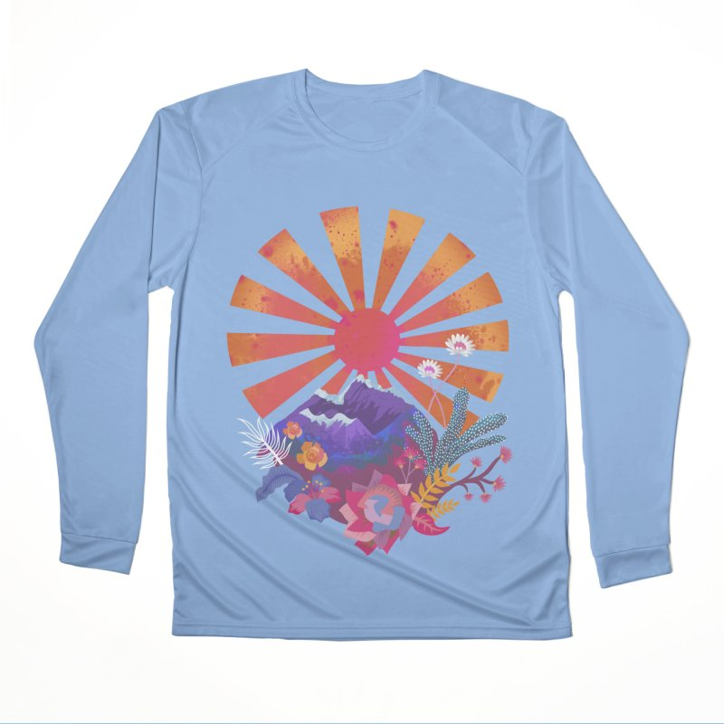 Abstract sun mountains and flowers Women's Longsleeve T-Shirt by Art & design by Maria Daniela Hästö