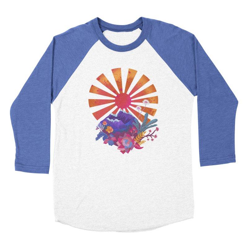 Abstract sun mountains and flowers Women's Longsleeve T-Shirt by Art & design by Maria Daniela Hästö
