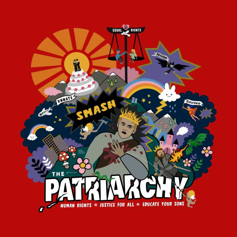 Smash patriarchy, freedom and justice for all Kids Longsleeve T-Shirt by Art & design by Maria Daniela Hästö