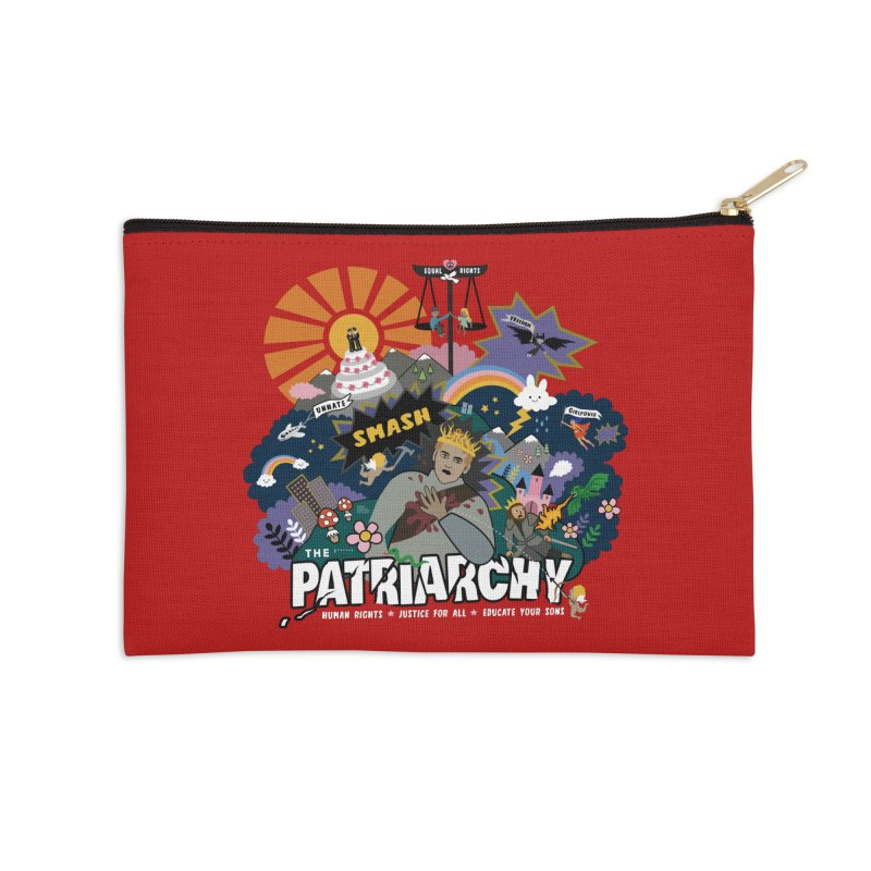 Smash patriarchy, freedom and justice for all Accessories Zip Pouch by Art & design by Maria Daniela Hästö