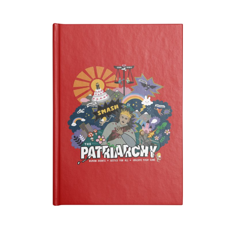 Smash patriarchy, freedom and justice for all Accessories Notebook by Art & design by Maria Daniela Hästö