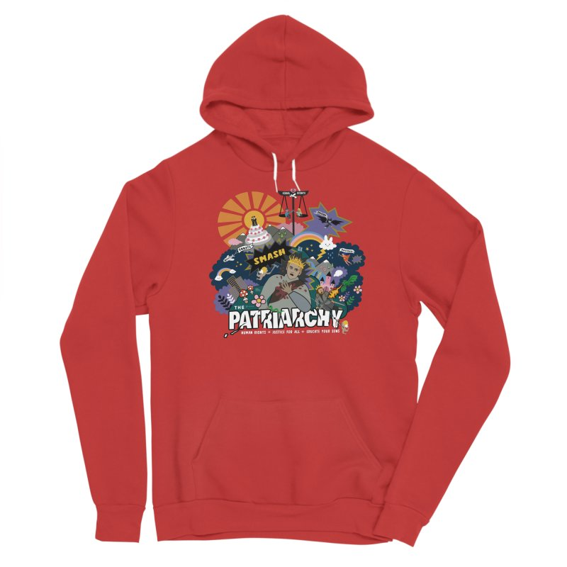 Smash patriarchy, freedom and justice for all Men's Pullover Hoody by Art & design by Maria Daniela Hästö