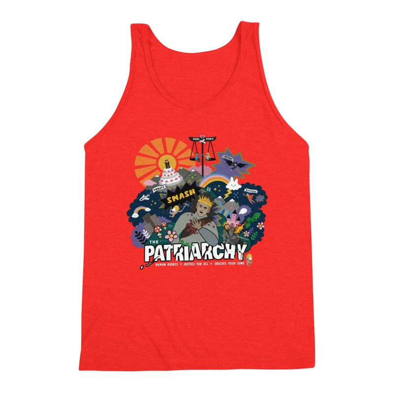 Smash patriarchy, freedom and justice for all Men's Tank by Art & design by Maria Daniela Hästö