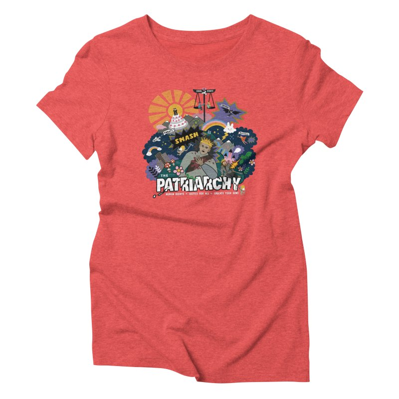 Smash patriarchy, freedom and justice for all Women's T-Shirt by Art & design by Maria Daniela Hästö