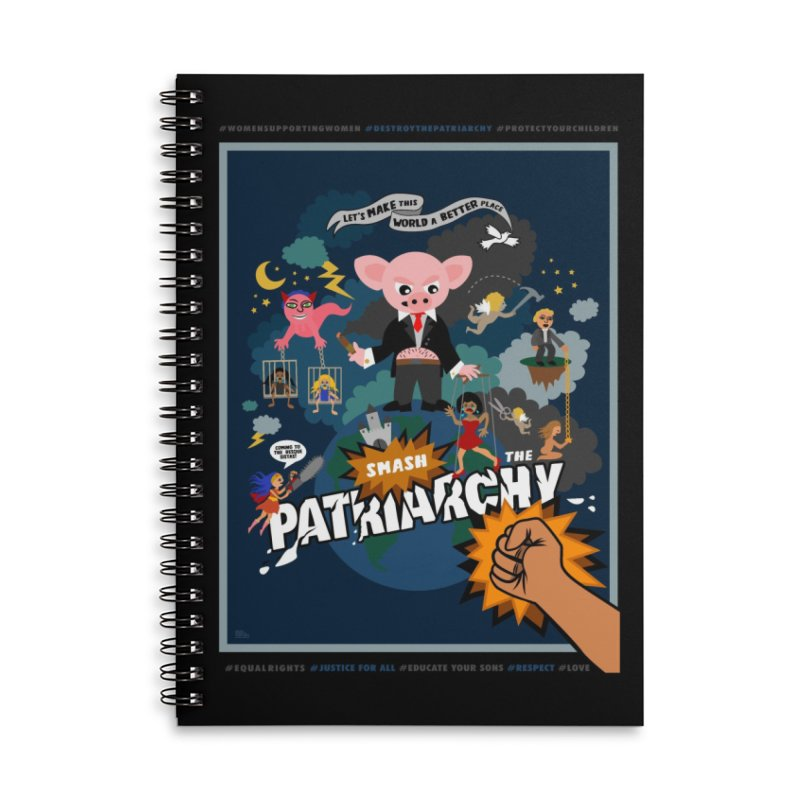 Let's make this world a better place, smash the patriarchy! Accessories Notebook by Art & design by Maria Daniela Hästö