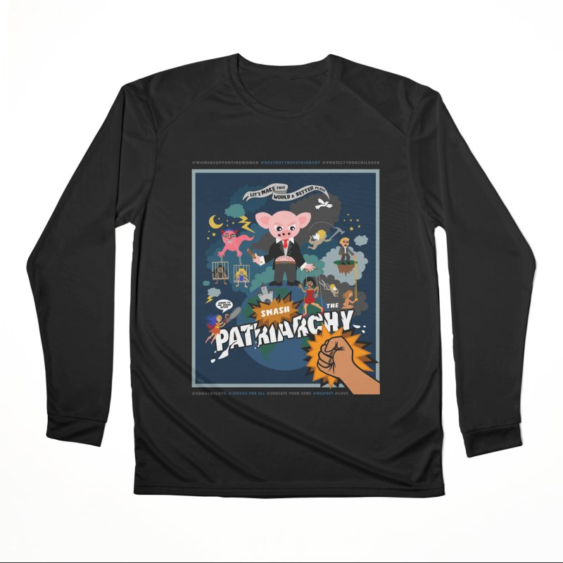 Let's make this world a better place, smash the patriarchy! Men's Longsleeve T-Shirt by Art & design by Maria Daniela Hästö