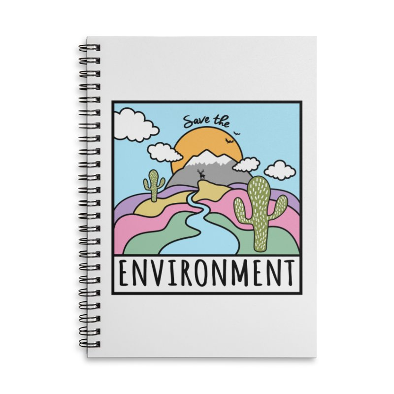 Save the environment Accessories Notebook by Art & design by Maria Daniela Hästö