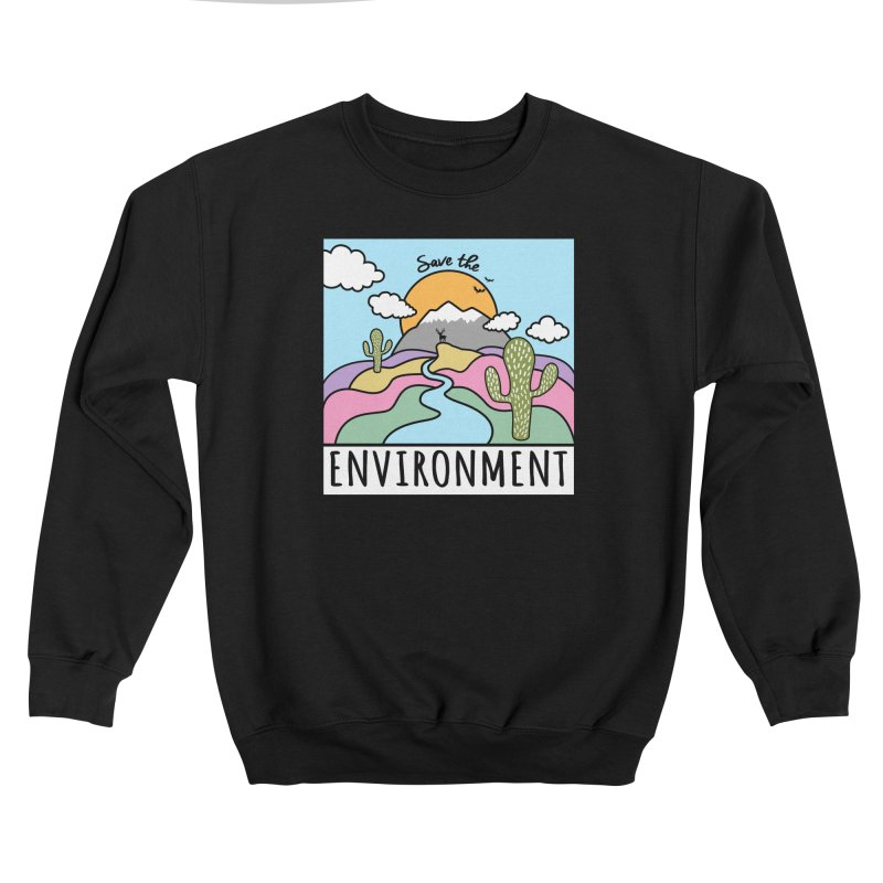 Save the environment Men's Sweatshirt by Art & design by Maria Daniela Hästö