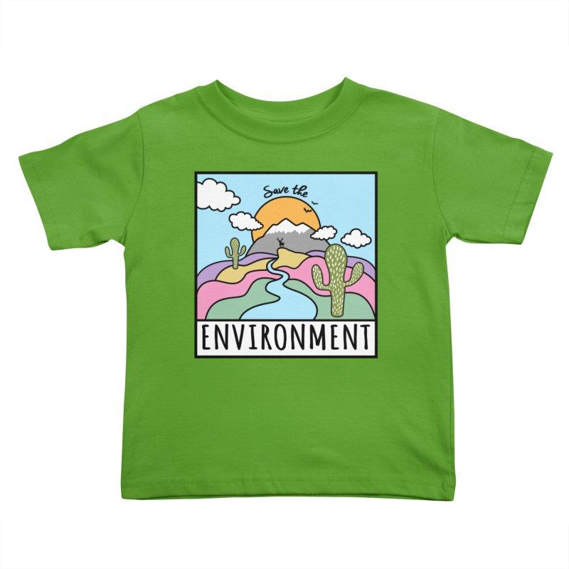 Save the environment Kids Toddler T-Shirt by Art & design by Maria Daniela Hästö
