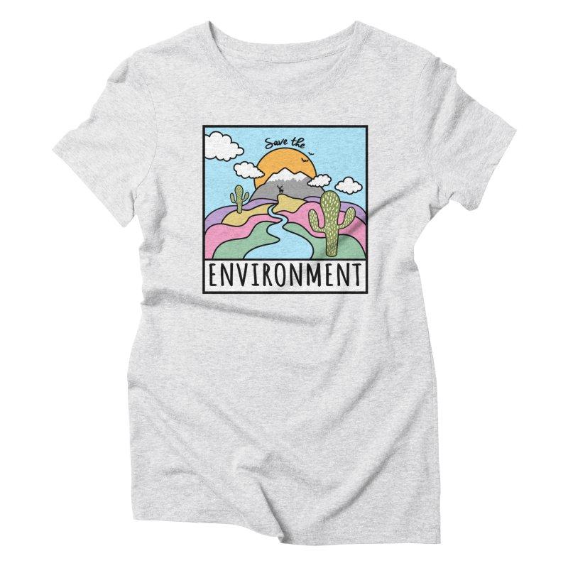 Save the environment Women's T-Shirt by Art & design by Maria Daniela Hästö