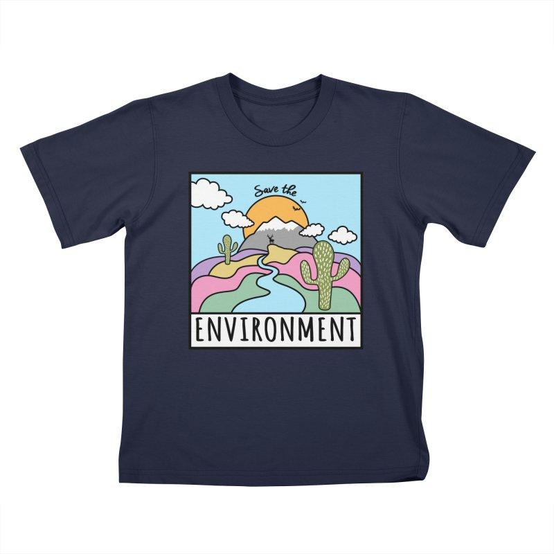 Save the environment Kids T-Shirt by Art & design by Maria Daniela Hästö