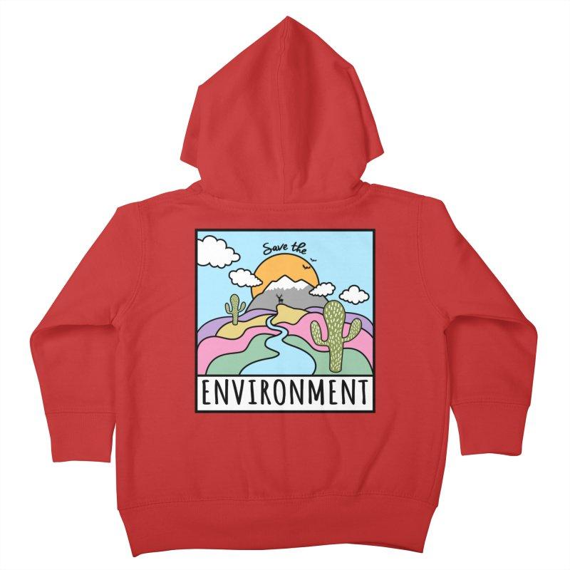Save the environment Kids Toddler Zip-Up Hoody by Art & design by Maria Daniela Hästö